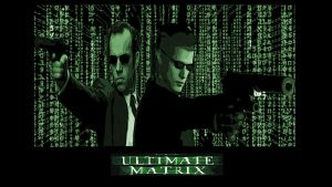 Agent Wesker and agent Smith by monkeygigabuster