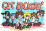 Get Backers Chibis by Kasandra-Callalily