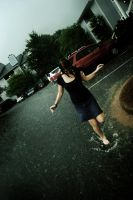 Playing in the rain - 2 by Kaeldra-1