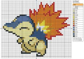 155 - Cyndaquil by Makibird-Stitching
