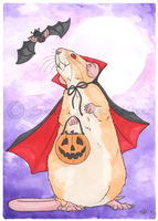 Dracula Rat! by SweetIllustrations
