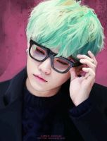 + Mint Yoongi by funsizedcat