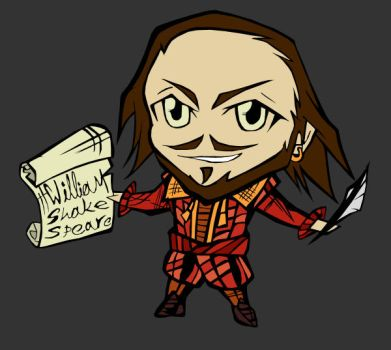 Shakespeare Chibi II - red by SanityP