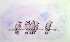 Birds On A Wire by qkat210