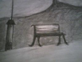 Charcoal bench by WendiJoe