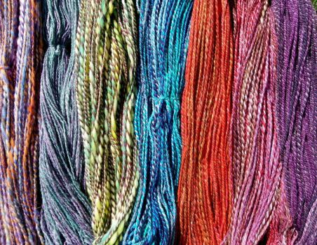 Dyed Yarn by SilverWheelYarn