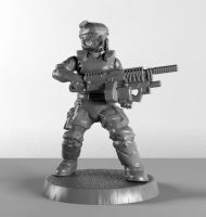 28mm USMC Holding Saw by sculptorwanted