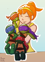 April and the Turtles by Sariiix3