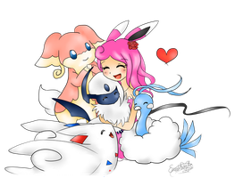 Rosabelle With a few AU pokemon by Eeveelutions95