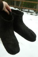 Felted Fleece boots by NightPhoenixArt