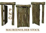 STOCK PNG old wooden door by MaureenOlder