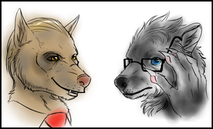 Hannibal - Lecter and Graham werewolves by FuriarossaAndMimma