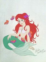 Ariel and Seahorses Color by Rendezvous2279