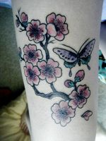 cherry blossom tattoo photo 2 by pauralotter14