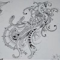 Mehndi Style Peacock by Laura-Simmons