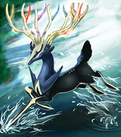 Xerneas. by Volcano-Queen
