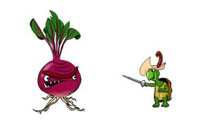 Kurtle Vs an Evil Beetroot by Kezzy-Wezzy-25
