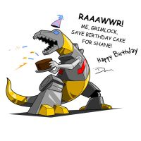 Grimlock, B-day Cake Defender by thedanimator