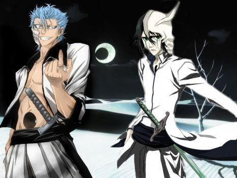 Grimmjow and Ulquiorra by Inferno3