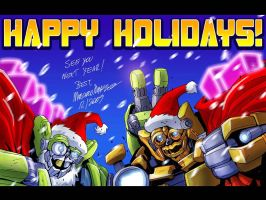 Double Happy Holidays by MarceloMatere