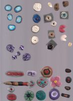 Polymer clay beads and food by 1tiptip1