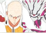 One Punch Man - A Worthy Opponent by Tyrannuss555