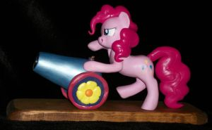 Pinkie Pie and her PARTY CANNON sculpture 4 Sale by MadPonyScientist