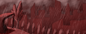 Raining in Red by DragonNightArt