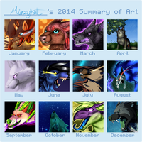 2014 Art Summary by MinzyKat
