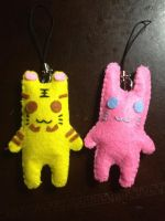 Tiger and Bunny Felt Keychain or Pin by jaysanzo
