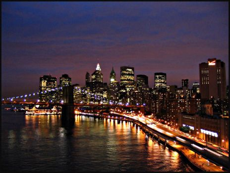 NYC at Night by Evilology