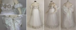 Silver Princess Serenity Cosplay Costume Gown by glimmerwood