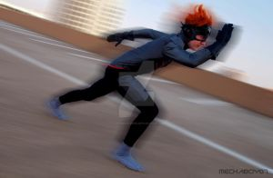 Young Justice Kid Flash STEALTH! - It's a blur by FluxTideDesigns