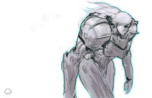 Samus sketch by Wynturtle