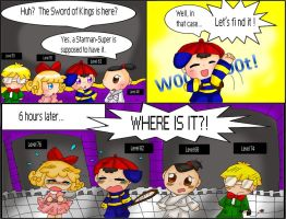 Earthbound Comic-Sword of King by purplemagechan