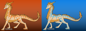 Jinja as a Dragon Monsuno b4 and after by PiccoloFreakNamick