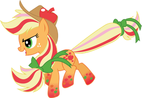 Rainbow Power Applejack by whizzball2