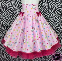 Hello Kitty Stars Skirt by TheVintageDoctor