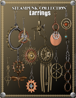 Steampunk Earrings Promo 2 by inception8