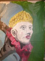 Portrait Painting of Clown head by XavierDiemert