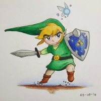 The Legend of Zelda: Toon Link by SporadicDuck