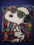 Snoopy Sutter Shades Joe Cool Design Drawing by NWeezyBlueStars23
