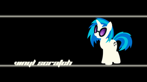 Vinyl Scratch Wallpaper by Alexstrazse