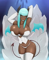 The Icy Succubus by upshdragoon
