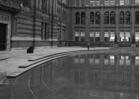 The courtyard pool by Puckmonkey