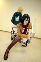 Attack On Titan MIKASA 4 by sharuruka
