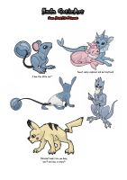 some acuatic pokemon by MySweetQueen