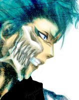 Burning Ice - Grimmjow Bleach by Solaristics