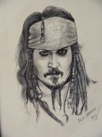 Jack Sparrow Sketch by mrkmhtet