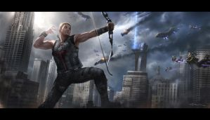 The Avengers- Hawkeye by andyparkart